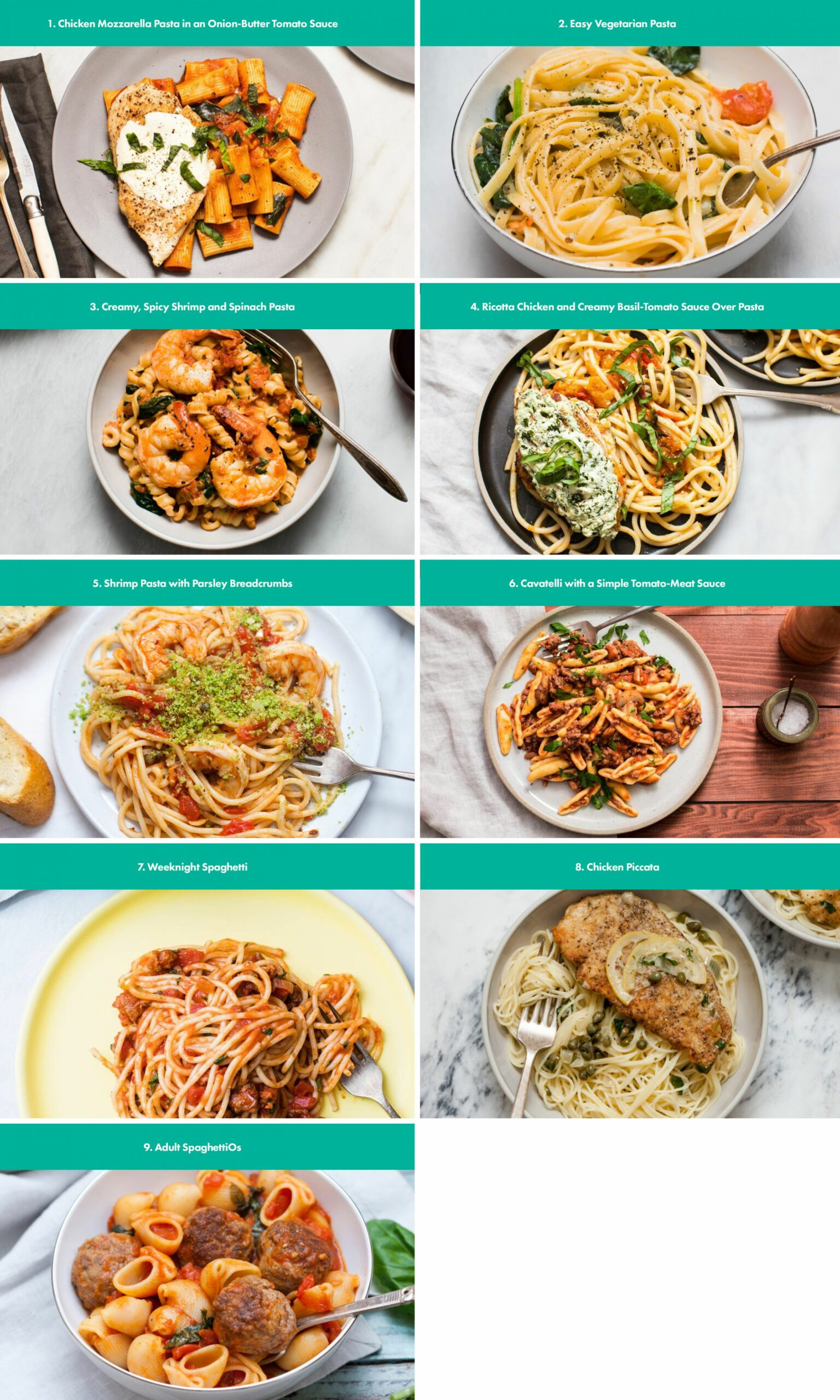 As requested, here are my favorite pasta recipes to help get you ..