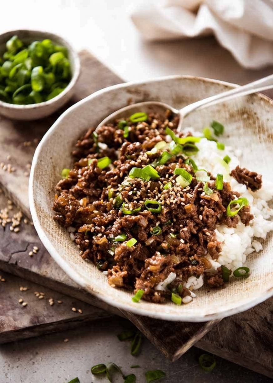 Asian Beef Bowls (Super Quick!) | RecipeTin Eats - Recipes With Beef Mince