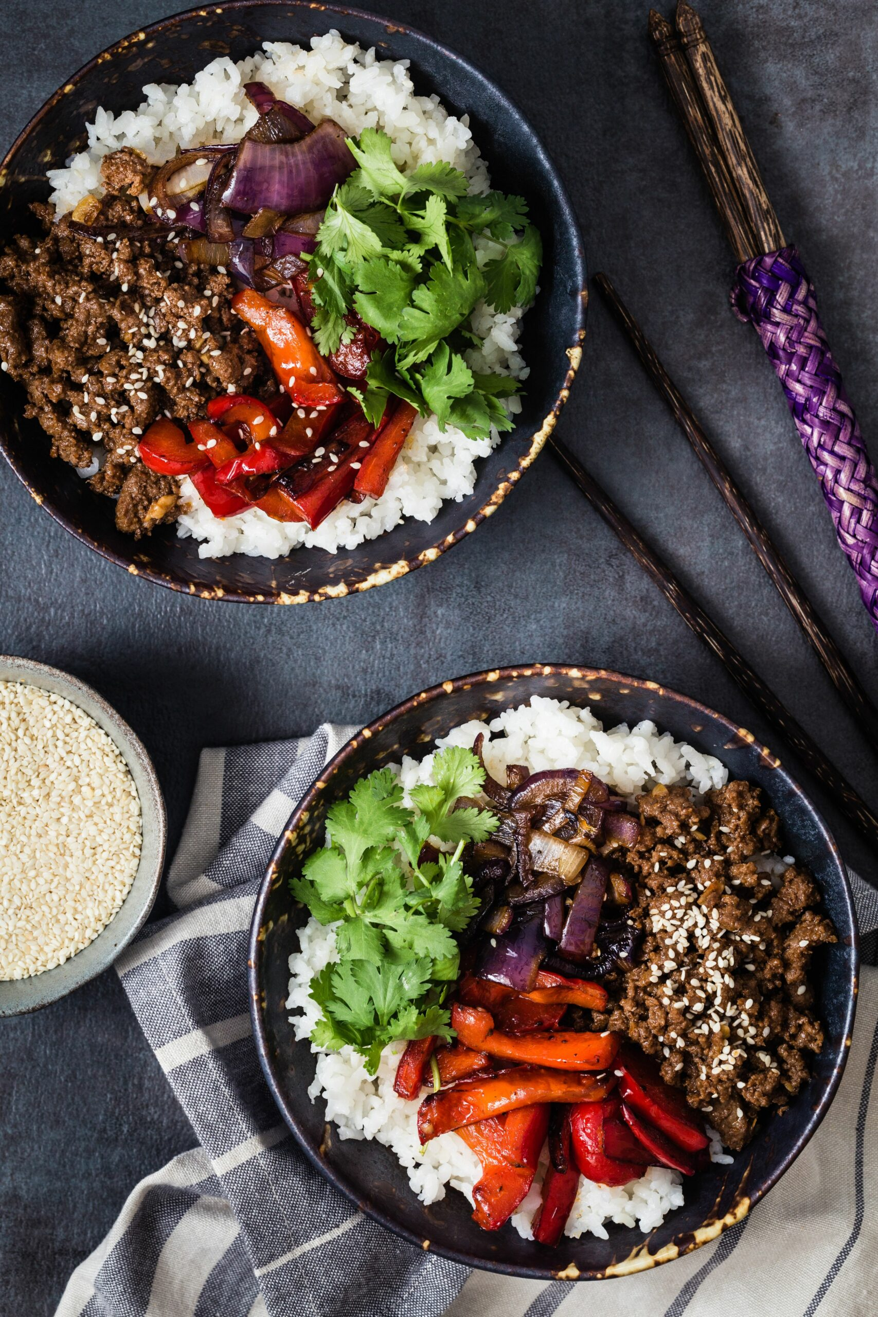 Asian beef rice bowl - Recipes Rice Beef Bowl