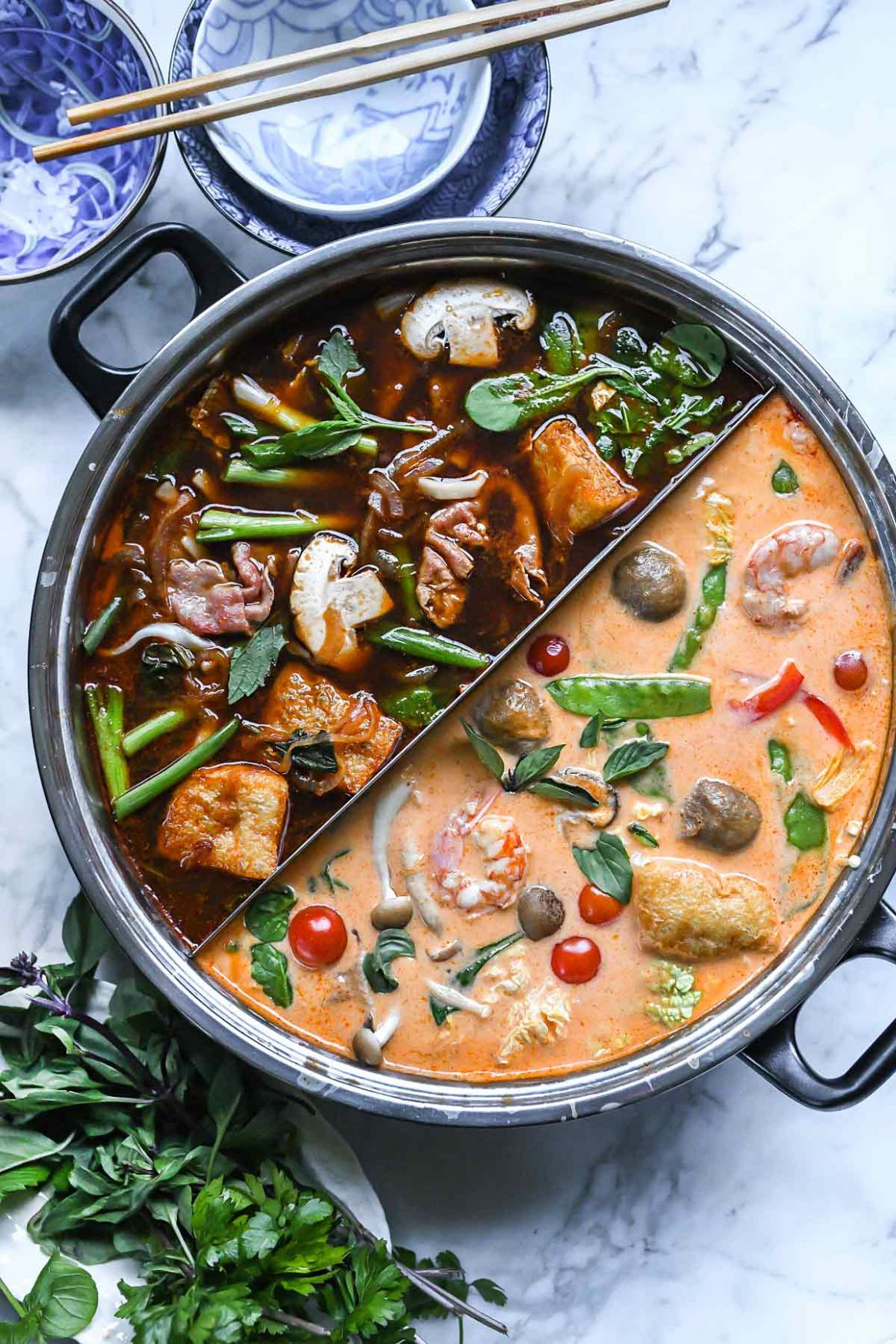 Asian Red Curry Hot Pot Broth - Easy Recipes Asian