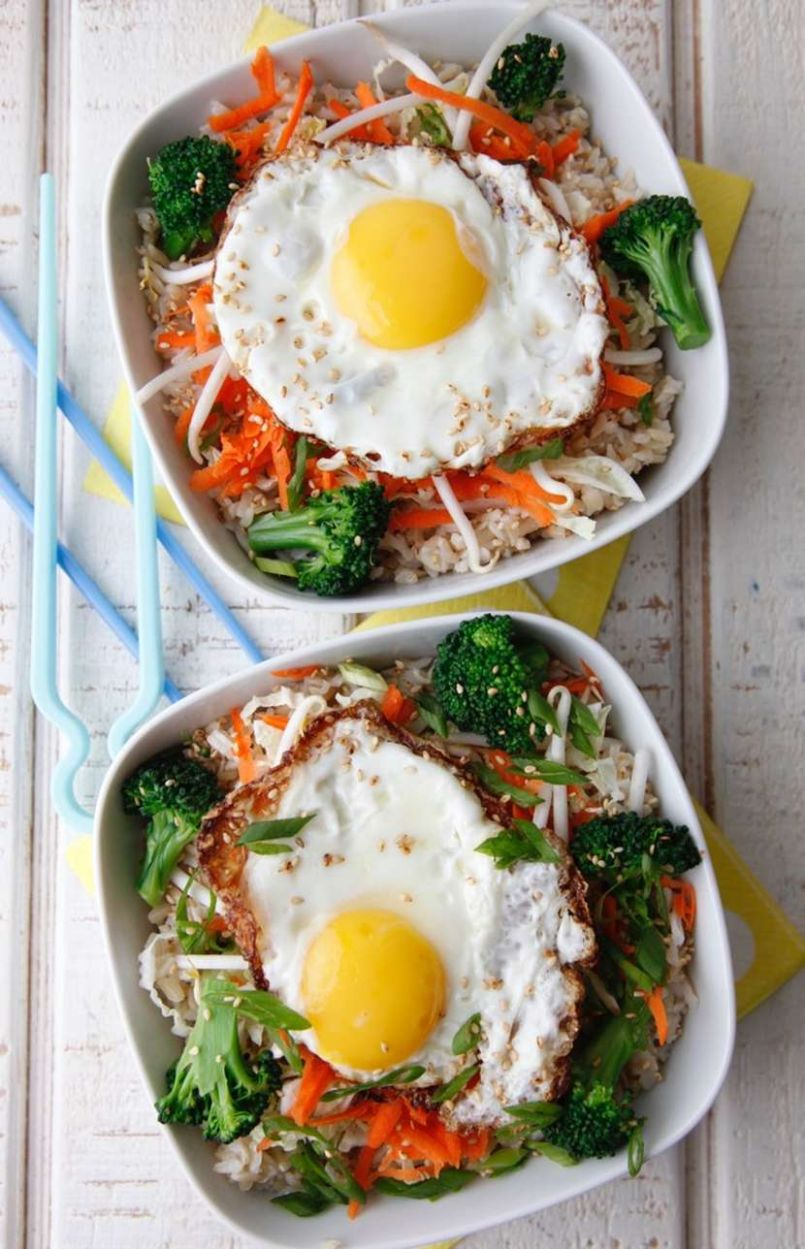Asian Rice Bowl with Egg - Breakfast Recipes Asian