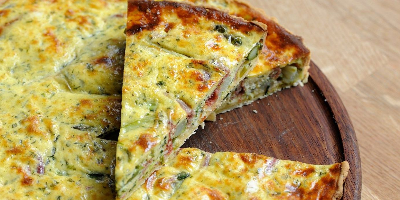 Asparagus and chervil quiche - Summer Quiche Recipes Uk
