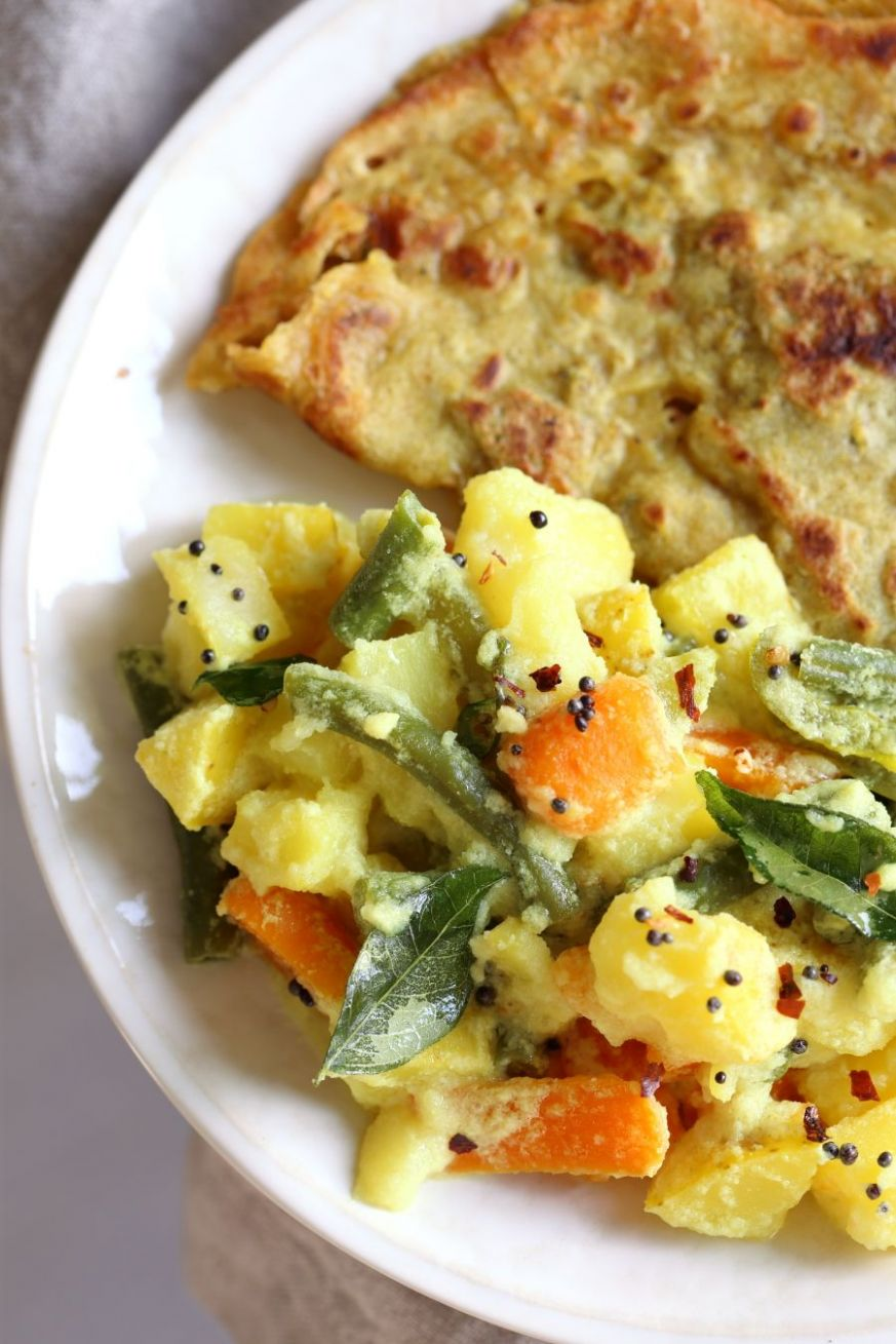 Avial - South Indian Veggie Coconut Curry - Dinner Recipes South Indian Vegetarian