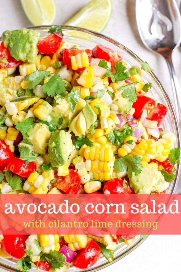 Avocado Corn Salad | *♥ BEST Foodie Recipes ~ Drool Responsibly ..