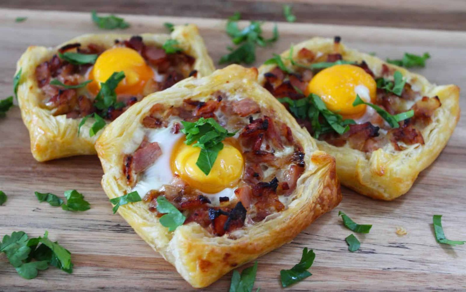 Bacon and Egg Galettes