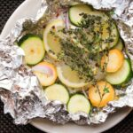 Baked Cod and Summer Squash in Foil Packets Recipe