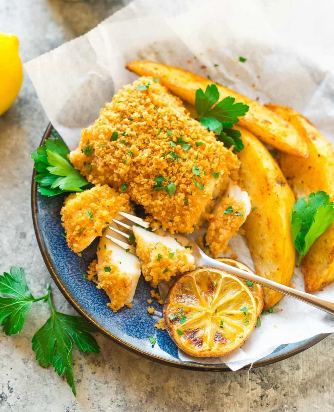 Baked Fish and Chips - Recipes Fish Healthy