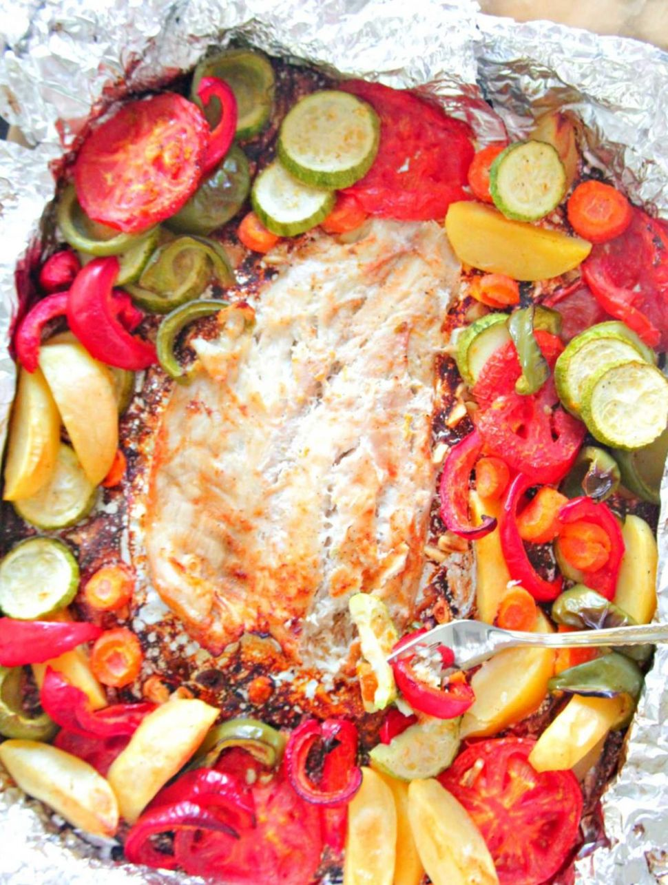 Baked Fish In Foil With Vegetables - Recipe Fish On The Grill In Foil