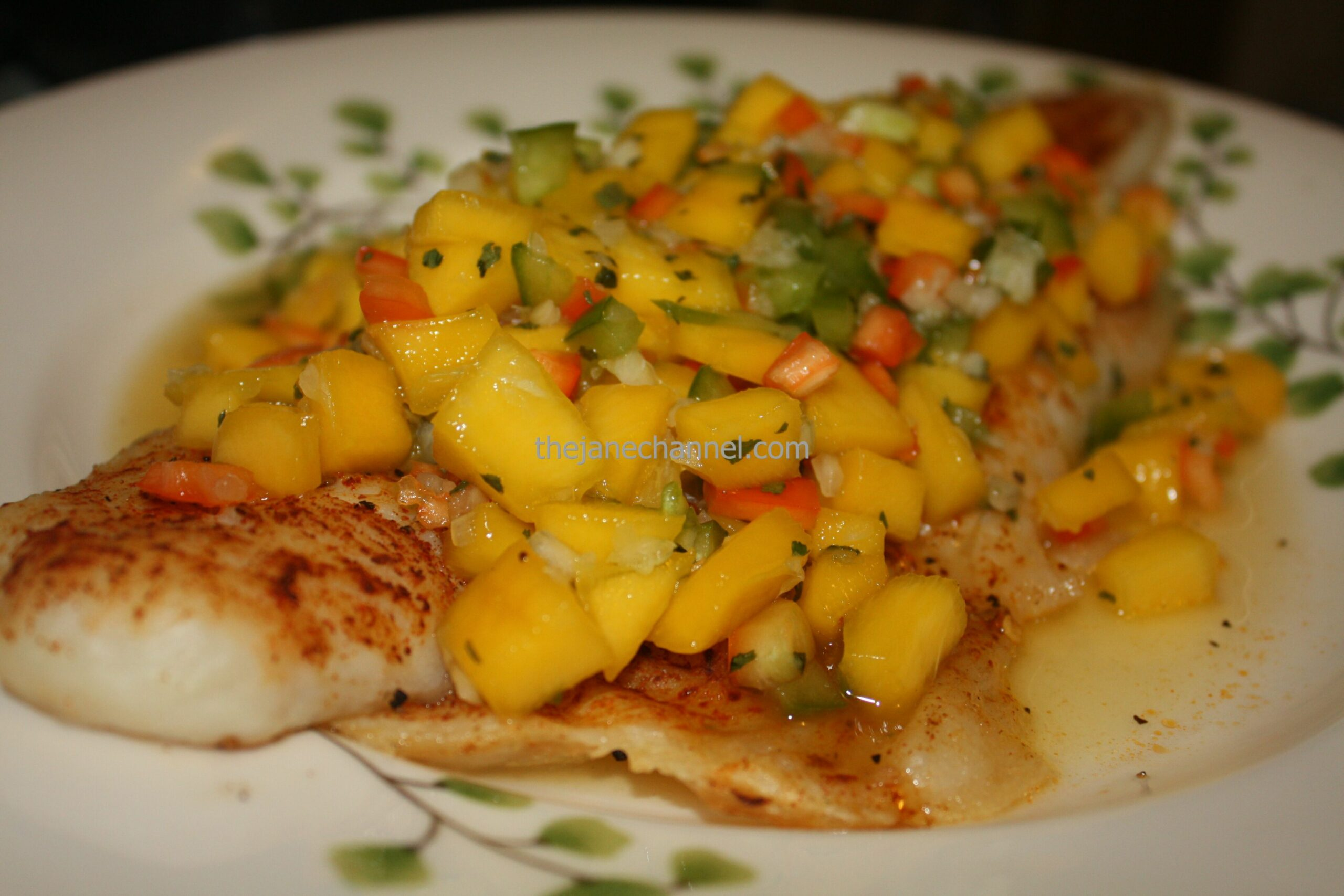 Baked Grouper Fillet with Mango Salsa | thejanechannel - Recipe Fish With Mango Salsa