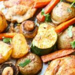 Baked One Pan Chicken Potatoes And Vegetables – Recipe Chicken Zucchini Sweet Potato