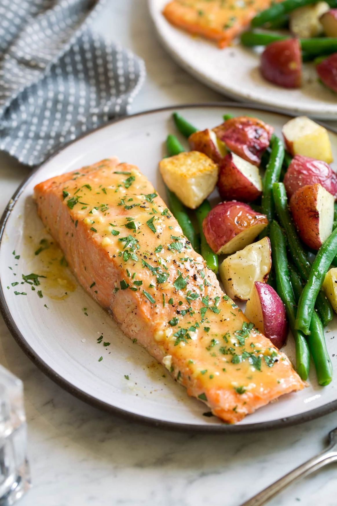 Baked Salmon with Buttery Honey Mustard Sauce - Recipes Cooking Salmon Fillets