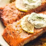 Baked Salmon With Creamy Lemon Dill Sauce – Recipe Fish Dill