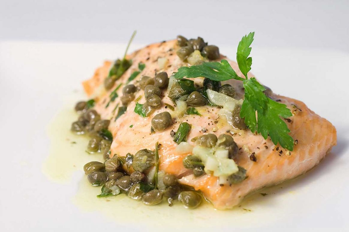 Baked Salmon with Lemon Caper Butter Recipe - Recipe Fish With Capers