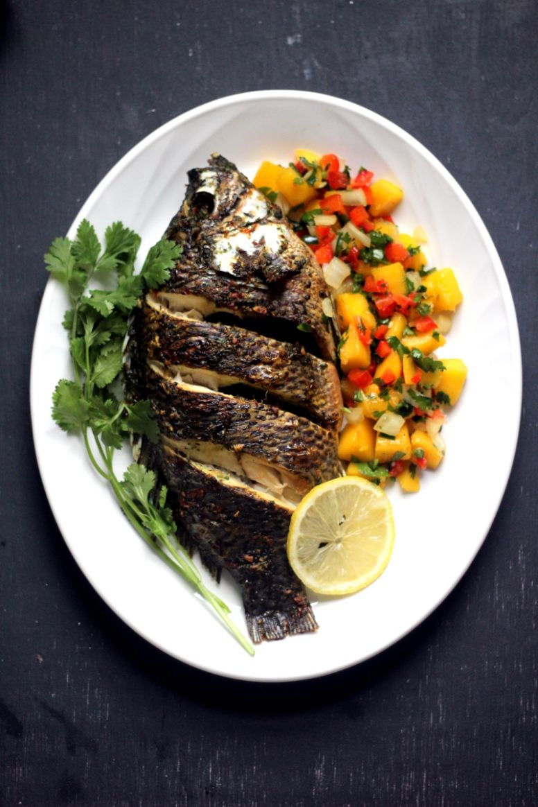 Baked Tilapia with Spicy Mango Salsa - PrincessTafadzwa - Fish Recipes In Zimbabwe