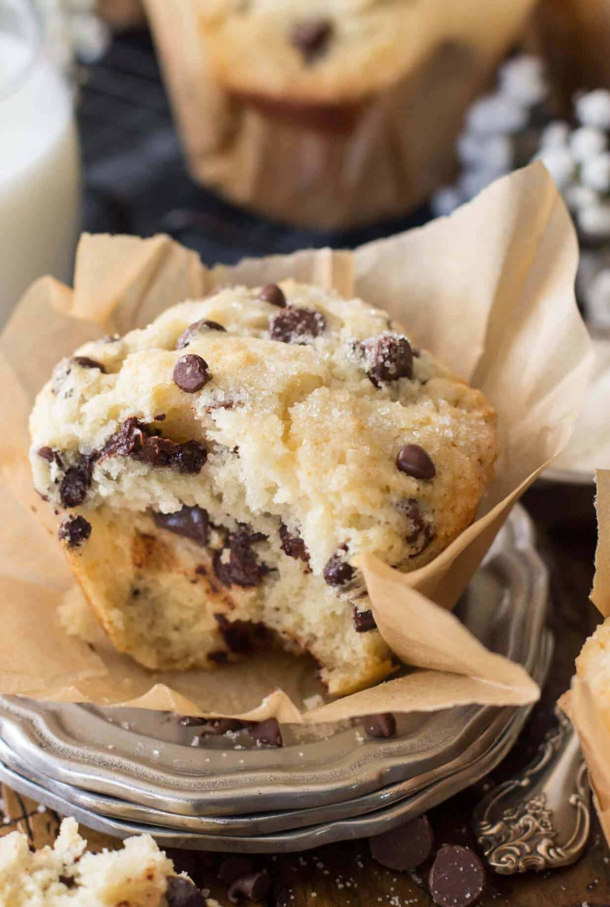Bakery Style Chocolate Chip Muffins - Recipes Chocolate Chip Muffins