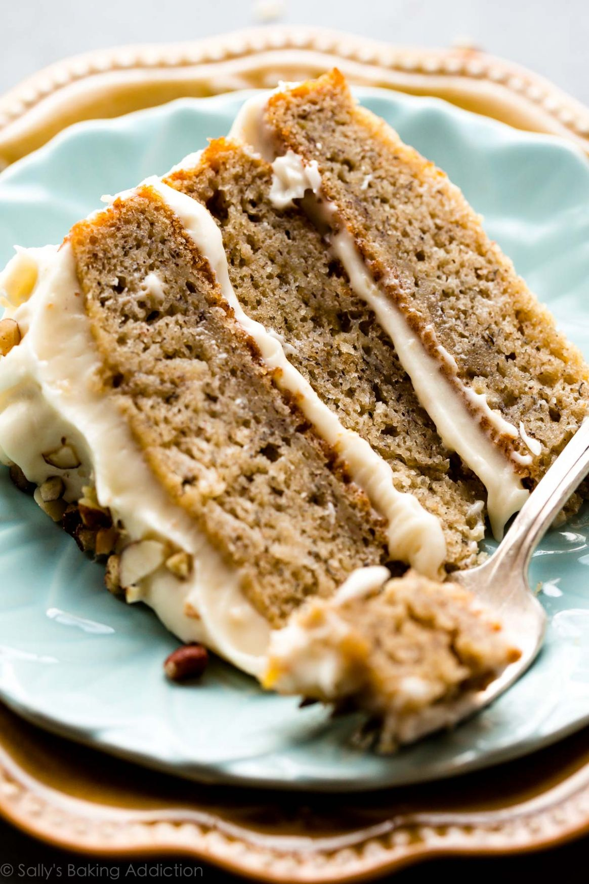 Banana Cake with Brown Butter Cream Cheese Frosting - Recipes Cake Banana