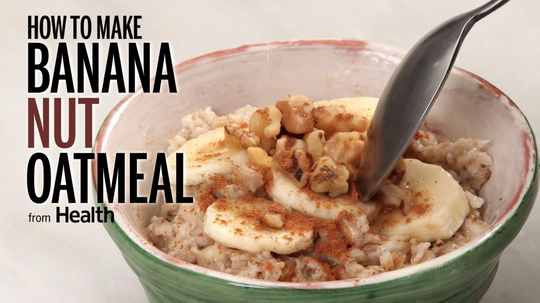 Banana Nut Oatmeal - Breakfast Recipes Low Sodium