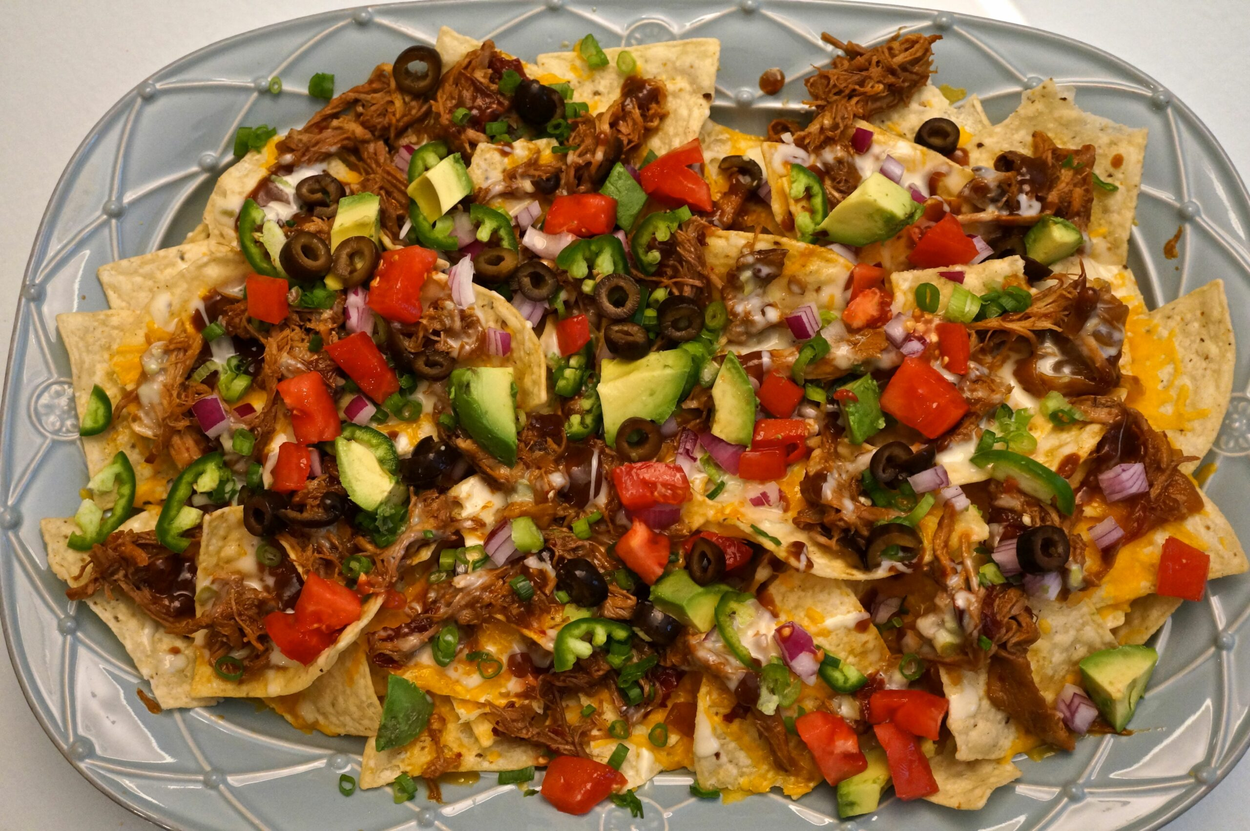 Barbecue Pork Nachos
