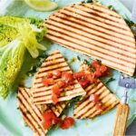 Barbecued spinach and feta flatbreads