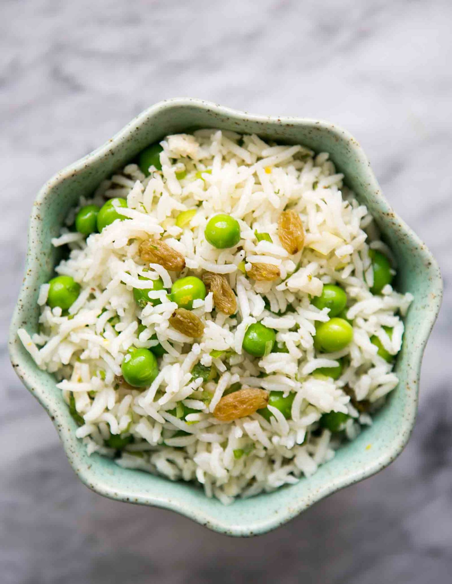 Basmati Rice Salad with Peas, Mint, and Lemon - Recipes Rice And Peas