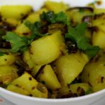 बटाटयाची भाजी | Batata Bhaji Recipe In Marathi | Pivlya Batatyachi Bhaji |  Pivla Batata Bhaji – Potato Recipes In Marathi