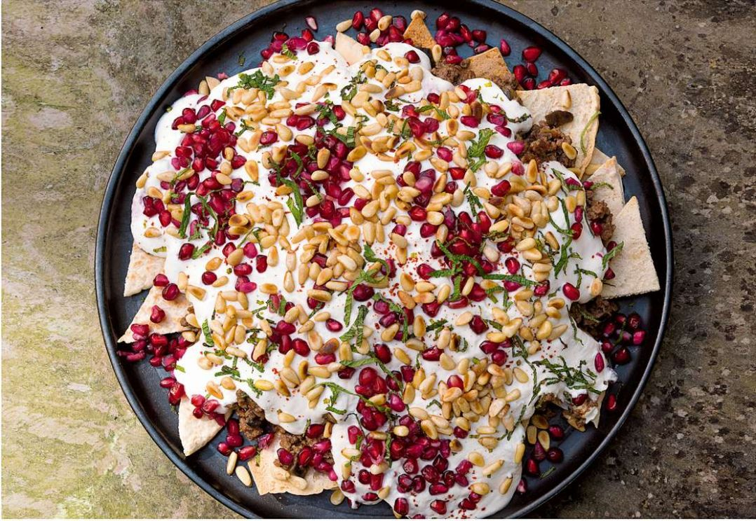 Beef and Aubergine Fatteh - Beef Recipes Nigella