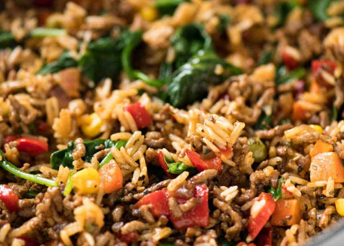 Beef and Rice with Veggies | RecipeTin Eats - Recipes Rice Mince