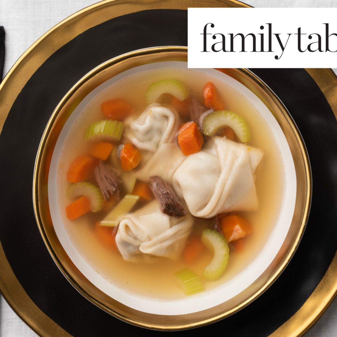 Beef Broth Vegetable Soup with Beef Dumplings - Recipes With Beef Broth
