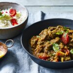 Beef curry with shatkora