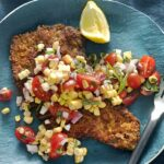 Beef Milanese With Fresh Corn & Cherry Tomatoes – Recipes Beef Milanesa