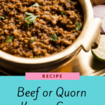 Beef Or Quorn Keema Curry – Quorn Recipes For Weight Loss