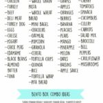 Bento Box Lunch Ideas + Cheat Sheet | Healthy Meal Prep, Lunch ..