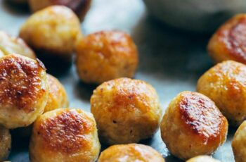 Best Anytime Baked Chicken Meatballs Recipe - Pinch of Yum