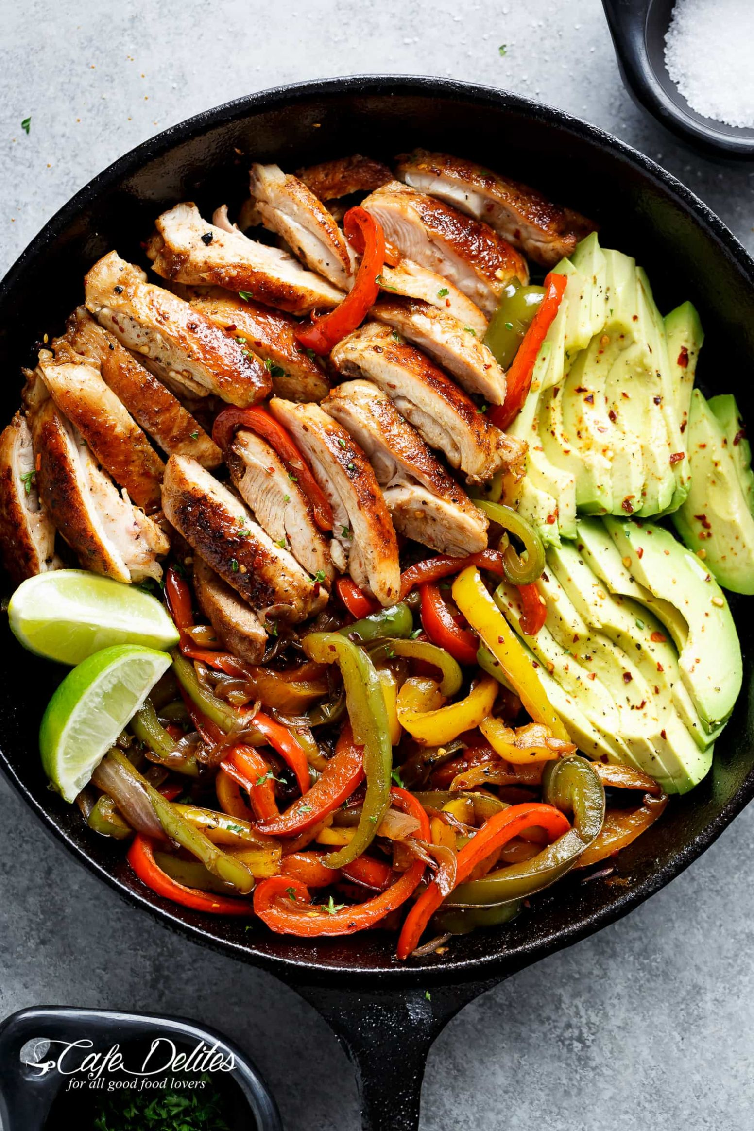 Best Chicken Fajitas - Cafe Delites - Recipes Chicken Breast Bell Peppers Onions