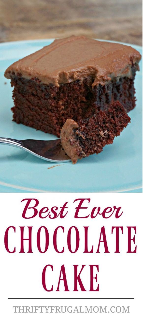Best Ever Chocolate Cake (no eggs, no butter) - Recipes Dessert Without Eggs