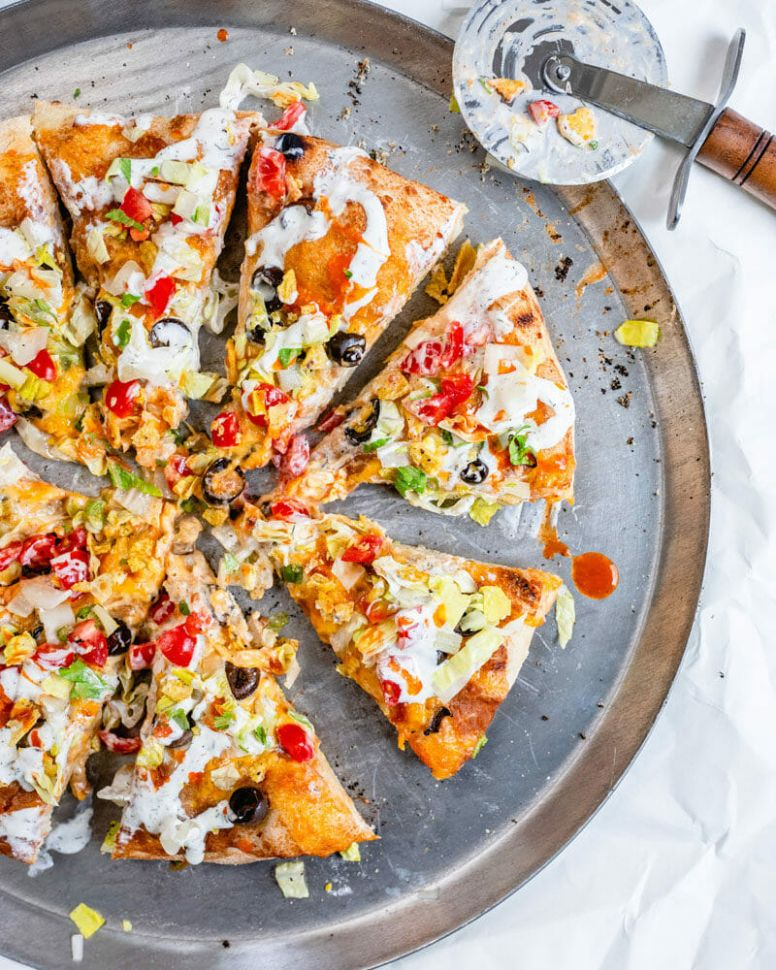 Best Ever Taco Pizza – A Couple Cooks - Pizza Recipes Toppings Gourmet