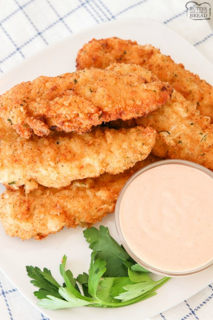 BEST HOMEMADE CHICKEN STRIPS EVER - Recipes Chicken Breast Tenders