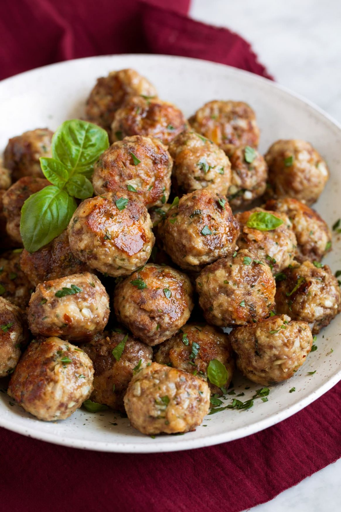 Best Meatball Recipe (Baked or Fried) - Cooking Classy - Recipes Beef Meatballs
