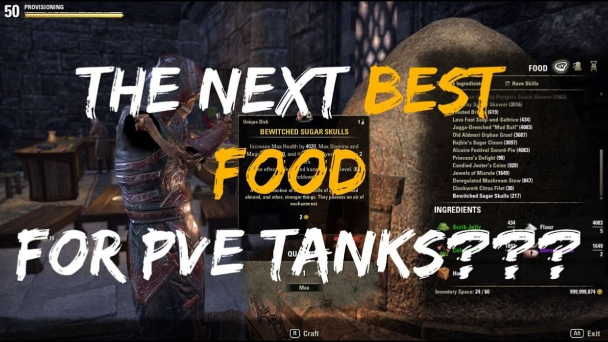 Bewitched Sugar Skulls: The Next Best Food For PvE Tanks? (Scalebreaker  PTS, ESO) - Food Recipes Eso