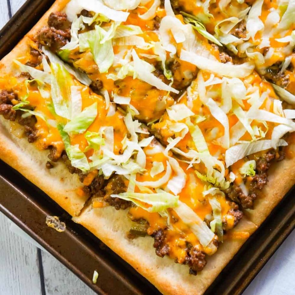 Big Mac Pizza - This is Not Diet Food - Recipes Using Pizza Dough Pillsbury