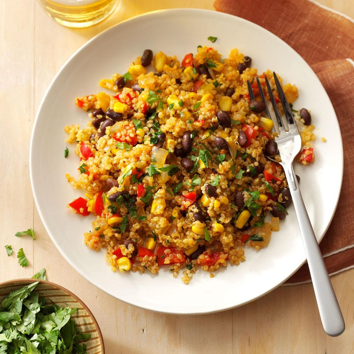 Black Bean & Corn Quinoa - Simple Recipes Quinoa