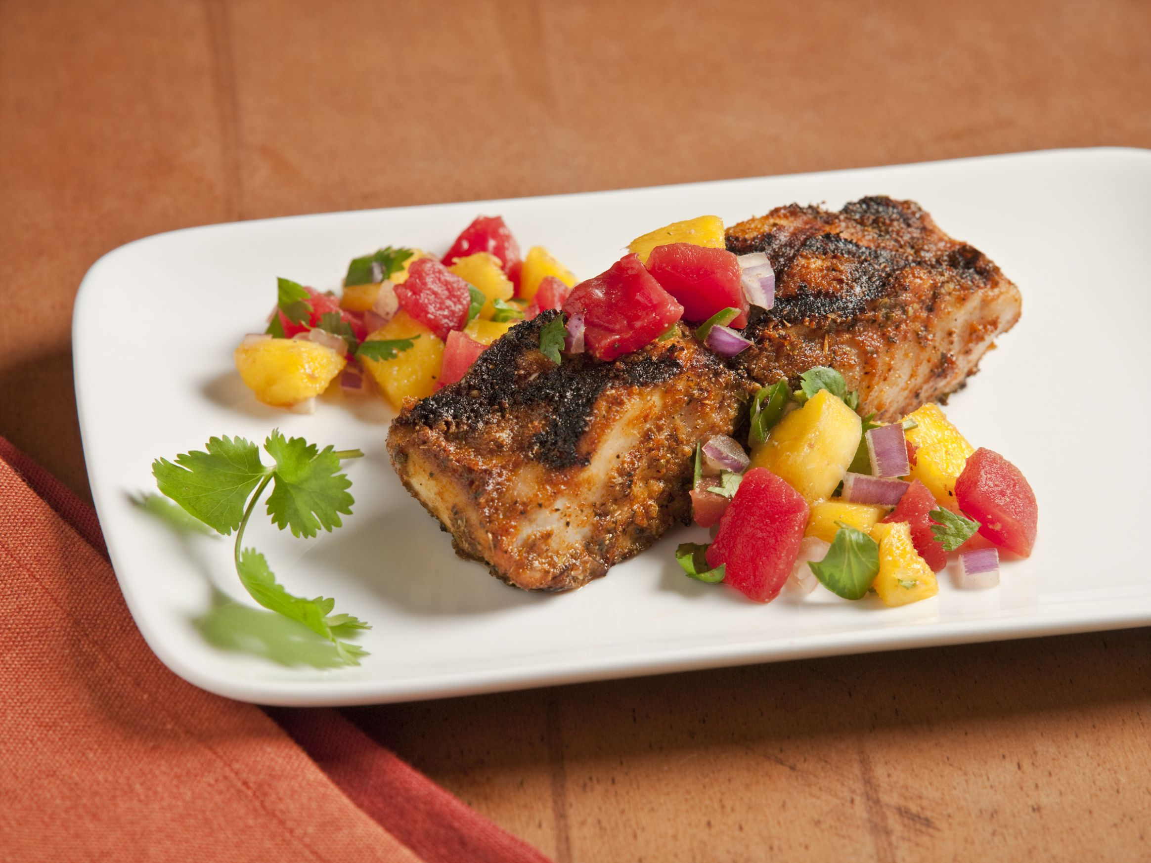 Blackened Mahi Mahi with Mango Salsa | Ready Set Eat - Recipe Fish With Mango Salsa