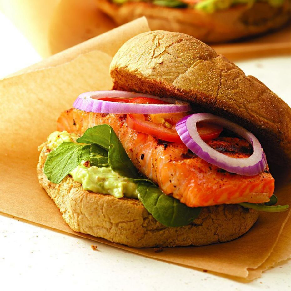 Blackened Salmon Sandwich