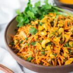 Bombay Carrot Salad With Cashews And Raisins | Feasting At Home – Healthy Recipes Indian Veg