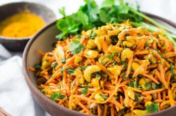 Bombay Carrot Salad with Cashews and Raisins | Feasting At Home
