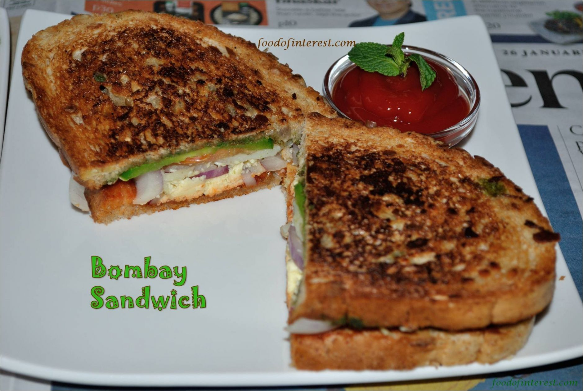 Bombay Sandwich | Street Food Recipes | Sandwich Recipes - Sandwich Recipes In Marathi