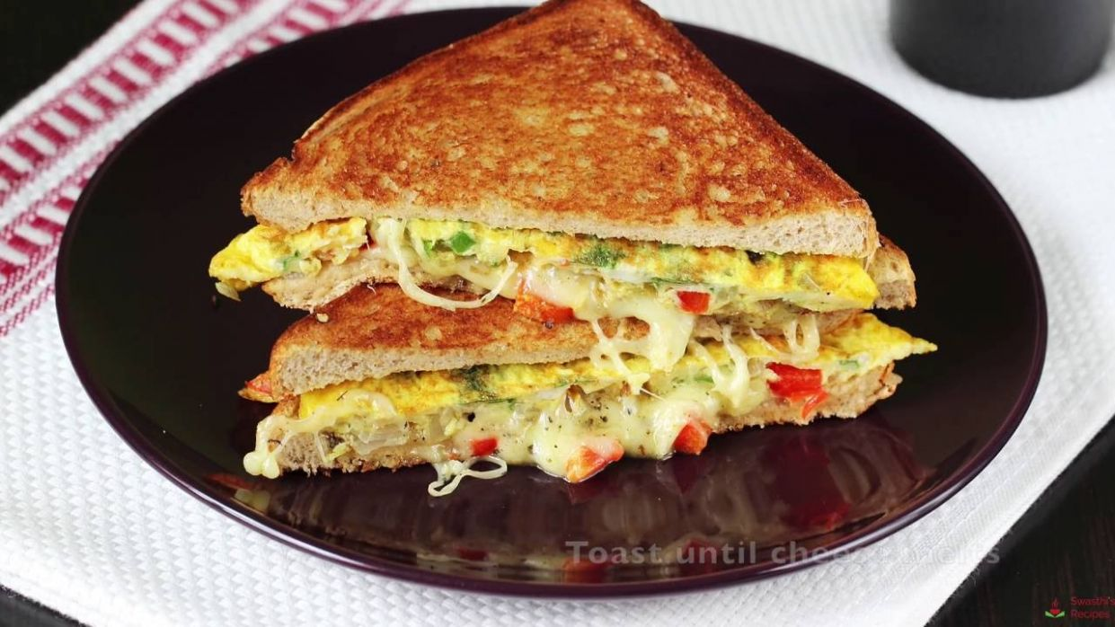 Bread omelet sandwich recipe | How to make omelette sandwich recipe - Sandwich Recipes In Marathi Video