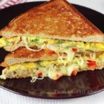 Bread Omelette Sandwich – Swasthi's Recipes – Breakfast Recipes Swasthi