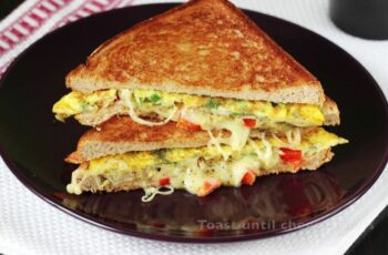 Bread omelette sandwich - Swasthi's Recipes