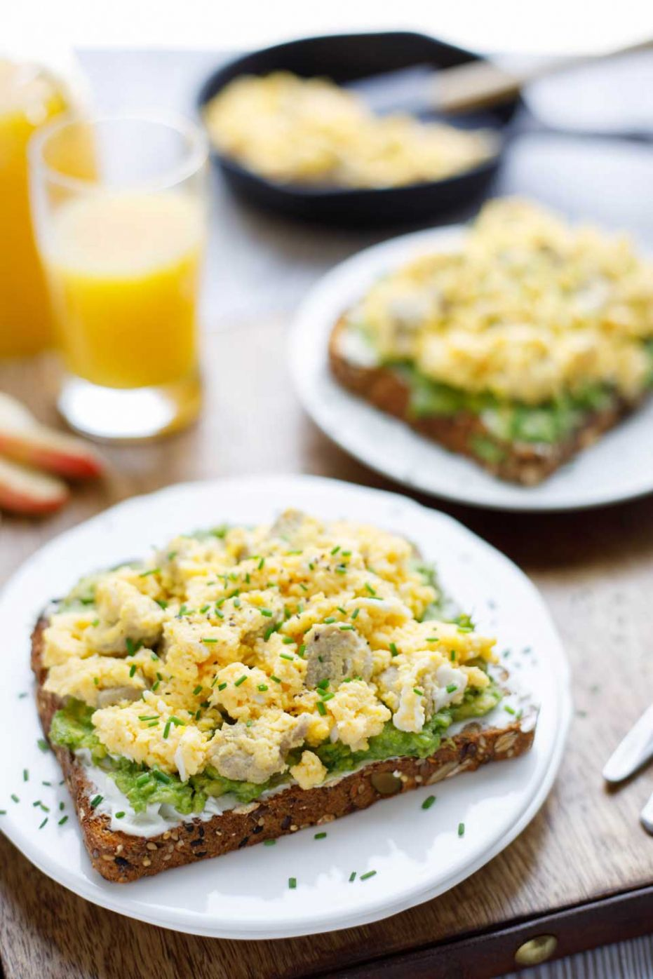 Breakfast Avocado Toast with Egg and Sausage - Two Healthy Kitchens - Breakfast Recipes Avocado